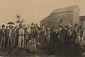 Turning the first sod at Sault Ste-Marie July 30th 1890, on the first publicly owned power canal constructed in Canada, for general distribution of power for industrial purposes (HS85-10-41465).jpg