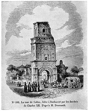 1802 Vrancea earthquake - Image: Turnul Colţei, 1841