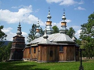Gmina Komańcza - Image: Turzansk greek catholic church 01