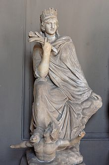 The Tyche of Antioch , Roman copy of a bronze by ...