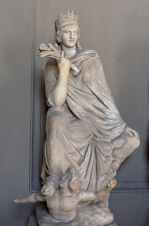 The Tyche (Fortune) of Antioch. Marble, Roman ...
