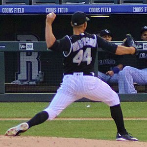 Tyler Anderson - Anderson pitching for the Colorado Rockies in 2016