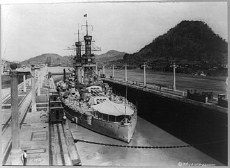 USS Arizona (BB-39) - Arizona transits the Panama Canal in 1921