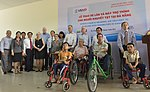 U.S. Congressional delegation attends a wheelchairs and hearing aids distribution event in Danang (13941335122).jpg