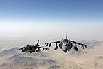 U.S. Marine Corps AV-8B Harrier aircraft assigned to Marine Attack Squadron (VMA) 311 fly over Helmand province, Afghanistan, June 10, 2013 130610-M-SA716-081.jpg