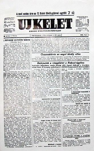 Új Kelet - Image: UJ Kelet 1925