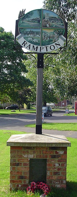 Rampton, Cambridgeshire - Signpost in Rampton
