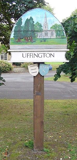 Uffington, Lincolnshire - Signpost in Uffington