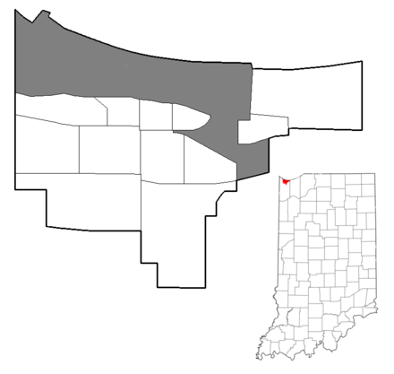Map of Gary, The gray represents the industrial corridor US-IN-Gary-Neighborhoods.png
