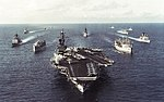 USS America (CV-66) Carrier Battle Group underway c1992.jpg