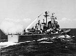 USS Boston (CAG-1) fires a SAM-N-7 Terrier missile, in August 1956 (NH 98281).jpg