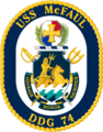 USS McFaul DDG-74 Crest.png