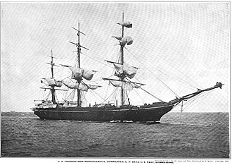 Guantanamo Bay Naval Base - United States training ship Monongahela, around 1903