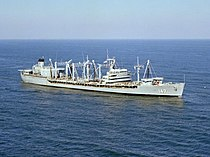 USS Truckee (AO-147) underway at sea on 30 January 1980 (6430330).jpg