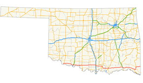 Us route 70 in oklahoma wikipedia us 70 on a map of oklahoma highlighted in red sciox Choice Image