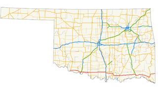 U.S. Route 70 in Oklahoma highway in Oklahoma