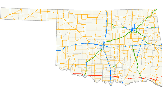 US Route In Oklahoma Wikiwand - Us route 70 map