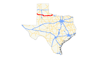 US 70 (TX) map.svg