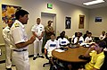 US Navy 040609-N-3659B-004 Royal Navy Director of Naval Recruiting Commodore G. J. Thwaites, speaks to a group of Delayed Entry Program (DEP) personnel.jpg