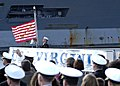 US Navy 041023-N-3527B-001 A Sailor raises the Union Jack as USS Virginia (SSN 774) is placed in commission at Naval Station Norfolk, Va.jpg