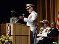 US Navy 050722-N-0962S-003 Chief of Naval Operations (CNO) Adm. Vern Clark delivers his final remarks during his change of command and retirement ceremony.jpg