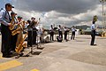 US Navy 070917-N-4238B-009 The U.S. Navy Showband, attached to the Military Sealift Command hospital ship USNS Comfort (T-AH 20), performs for a crowd in Trinidad and Tobago.jpg