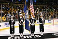 US Navy 071104-N-8110K-004 The guided-missile destroyer USS Sampson (DDG 102) color guard presents colors at the opening ceremony of the National Hockey League match between the Boston Bruins and the Ottawa Senators.jpg