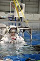 US Navy 090324-N-2959L-331 Lt. Cmdr. Chris Cassidy is lowered into the Neutral Buoyancy Laboratory (NBL) for a training session in Houston.jpg