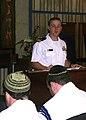 US Navy 090427-N-0995C-012 Lt. Dennis Kelly reads an excerpt of Reverend Martin Niemoller's poem, First they came..jpg