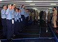 US Navy 090508-N-6233C-059 Sailors from the reactor department reenlist in the forecastle the aircraft carrier USS George Washington (CVN 73).jpg
