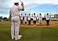 US Navy 090821-N-5345W-032 Delayed entry program enrollees recite the oath of enlistment during pre-game ceremonies at Harbor Park in Norfolk as part of the Norfolk Tides annual Navy Day celebration.jpg