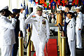 US Navy 110603-N-VM928-194 Capt. Jeffrey James departs from his change of command ceremony at Kilo Pier.jpg