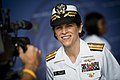 US Navy 110622-N-KK576-049 Rear Adm. Gretchen S. Herbert gives an interview to a news reporter after the Navy Cyber Forces change of command ceremo.jpg