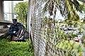 US Navy 110622-N-WP746-042 Chief Warrant Officer 3 Carlos Choto icks up rubbish along Kamehameha Highway, outside the Pearl Harbor Visitors Center.jpg