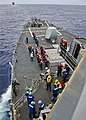 US Navy 111116-N-RI884-003 Sailors aboard the guided-missile destroyer USS O'Kane (DDG 77) prepare for an underway replenishment.jpg
