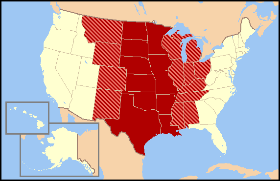 US map-Central