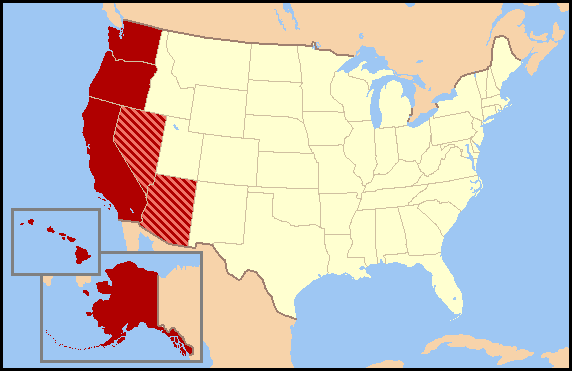 US map-Pacific