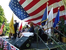 UU Summit NJ Memorial Day proceedings remembering fallen soldiers