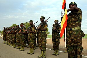Uganda People's Defence Force - Ugandan land forces on parade.