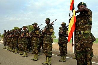 Uganda People's Defence Force - Ugandan land forces on parade.