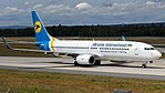 Ukraine International Airlines Boeing 737-800 (UR-PSF) at Frankfurt Airport.jpg