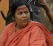 Uma Bharti, Pachmarhi, parlamentano, krop.jpg