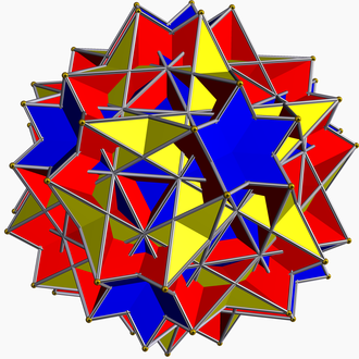 Compound of six pentagonal prisms - Image: Uniform great rhombicosidodecahedr on