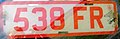 United Kingdom license plate 538 FR dealer.jpg