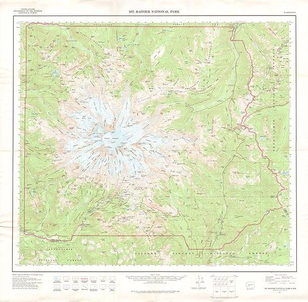 File:United States Geological Survey Map Mount Rainier, Published ...