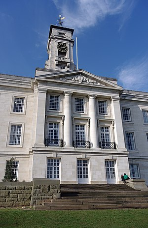 Campuses of the University of Nottingham - The southern face of the Trent Building.
