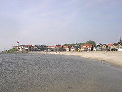 Current town and former island of Urk