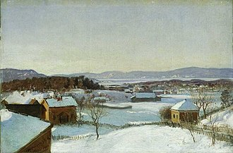 Morten Müller - View Over  Bondejordet and Surroundings (1868)