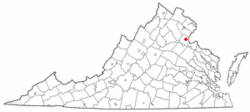 Location of Aquia Harbour, Virginia