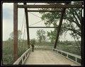 VIEW LOOKING SOUTHWEST, DETAIL OF SOUTH PORTAL - Milk River Bridge at Coberg, Spanning Milk River, Coburg, Blaine County, MT HAER MONT,3-COBU,1-11 (CT).tif